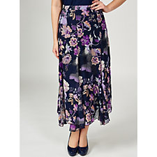 Antthony Designs Printed Chiffon Skirt