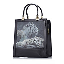 Butler & Wilson 3 Tigers Hologram Square Shape PVC Bag