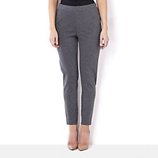 The Lisa Rinna Collection Seam Detail Ponte Leggings