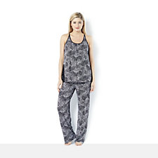 157949 - Midnight Modal PJ Set with Satin Trim by Carole Hochman