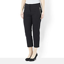 Andrew Yu Capri Trouser with Zip Pockets