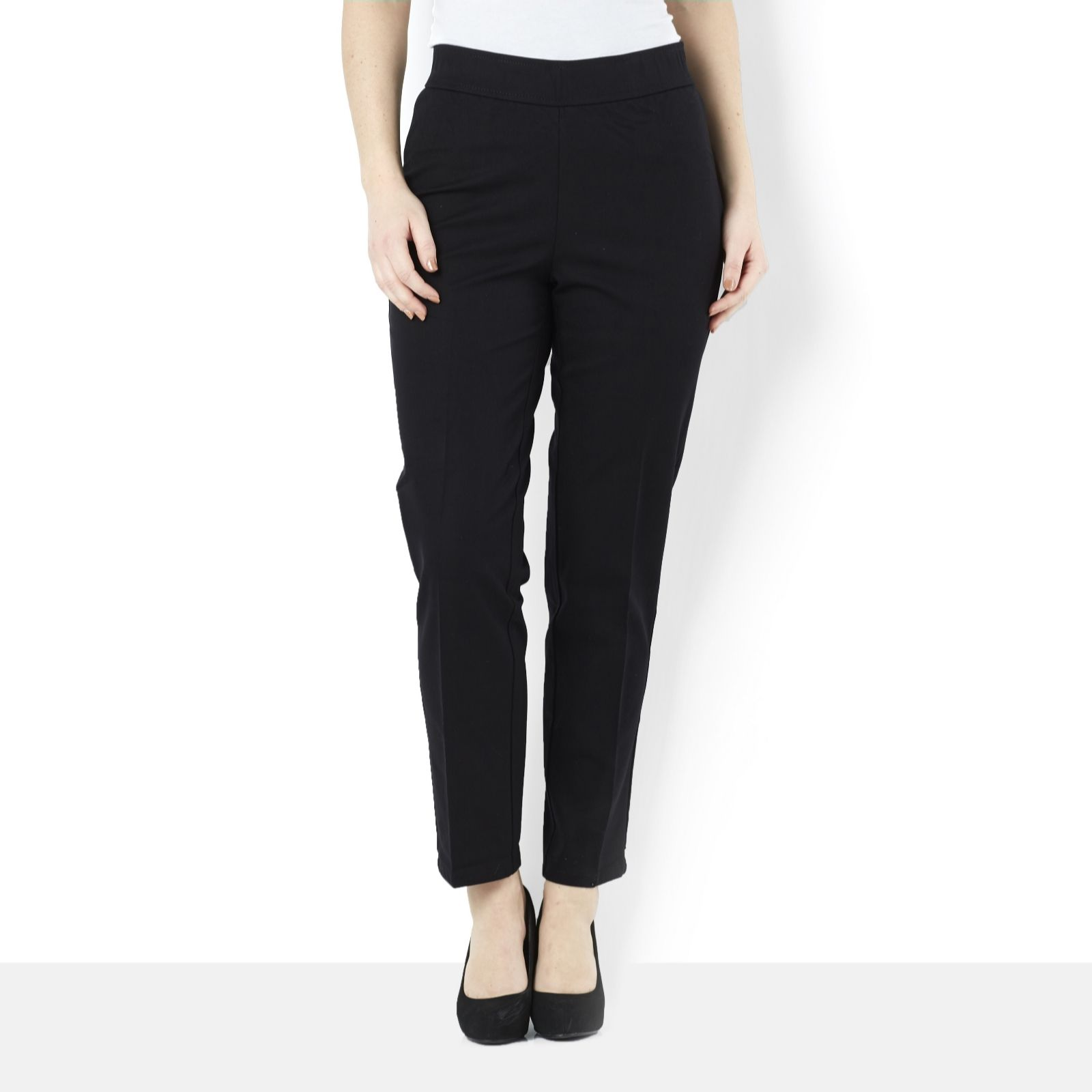 Isaac Mizrahi Live Stretch Ankle Length Trousers with Seam Detail