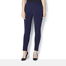 Petite Straight Leg Jersey Trousers by Nina Leonard