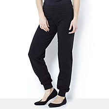 Women with Control Fold Over Waistband Cuffed Hem Relaxed Trousers