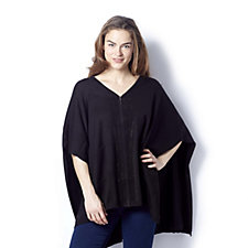 Frank Usher Sparkle Zip Up Poncho With Pockets