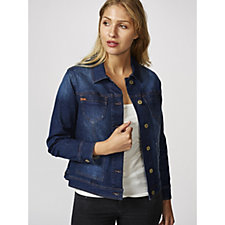 Isaac Mizrahi Live True Denim Jacket