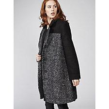 Centigrade Colour Block Boucle Coat
