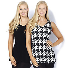 Grace Pack of 2 Sweetheart Neckline Tunics