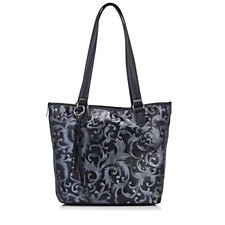 Tignanello Prescott Embossed Leather Shopper with RFID Protection