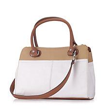 Tignanello Soft Pebble Texture Medium Shoulder Bag with Detachable Strap