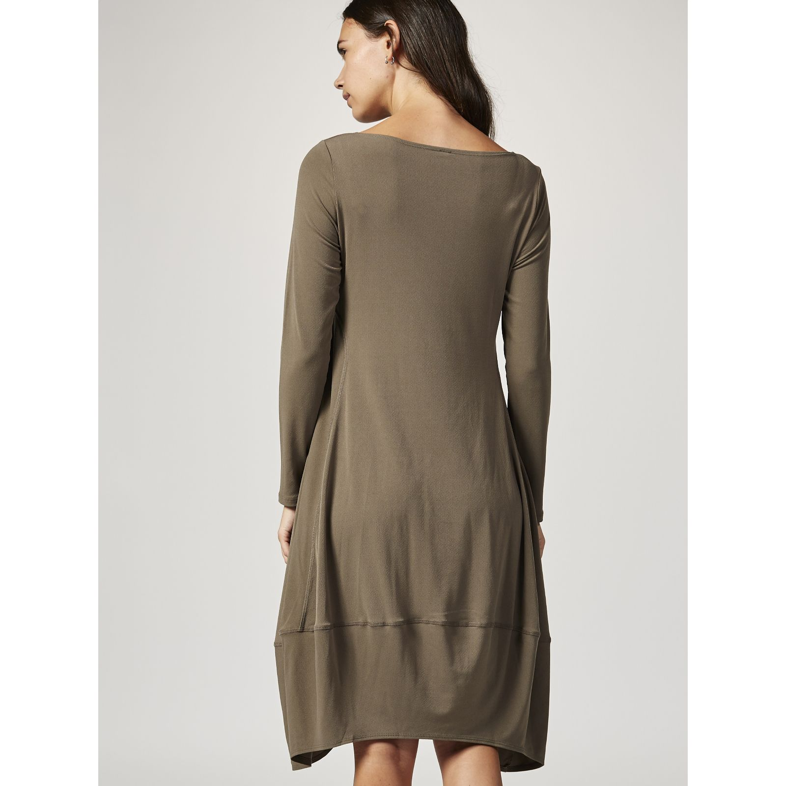 Marla wynne luxe crepe jersey scoop neck balloon dress pictures