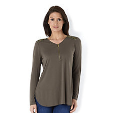 Fashion by Together Zip Front Tunic