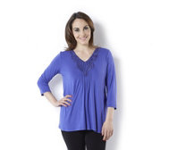 Fashion by Together Crochet Neckline Tunic Top