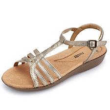 Clarks Manilla Porta Strappy T-Bar Sling Back Shoe