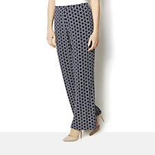 158450 - Printed Comfort Waist Trousers by Susan Graver
