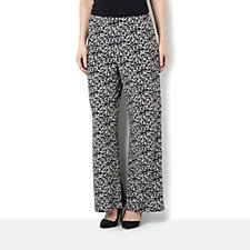 Paintbrush Print Trousers by Michele Hope
