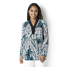 Attitudes by Renee Long Sleeve Tunic with Dipped Back Hem