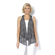 Yong Kim Sleeveless Crochet Crepe Knit Waistcoat