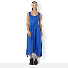 Join Clothes Scoop Neck Tie Waist Dress