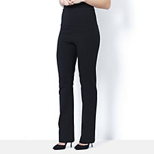Women with Control Wide Waistband Boot Cut Trousers
