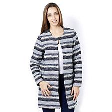 Betty & Co Cream Striped Long Sleeve Jacket