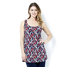 Kim & Co Printed Venechia Sleeveless Swing Tunic