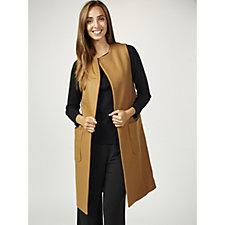 Helene Berman Wool Blend Patch Pocket Waistcoat