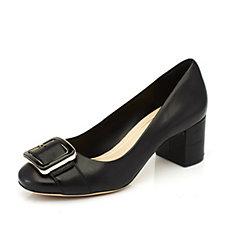 Clarks Orabella Fame Block Heel Court Shoes