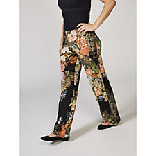 Attitudes by Renee Printed Jersey Wide Leg Trousers