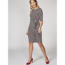 Lola Demi Sleeve Printed Dress by Onjenu London