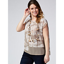 MarlaWynne Mix Media Patchwork Printed Top
