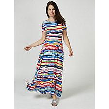 Joni Printed Maxi Dress by Onjenu London