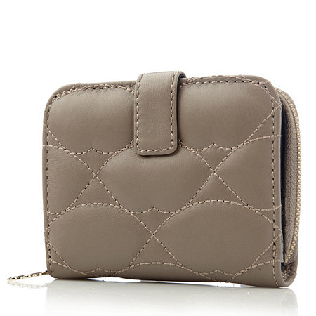 Lulu Guinness Leather Nappa Quilted Lips Mink French Purse ...