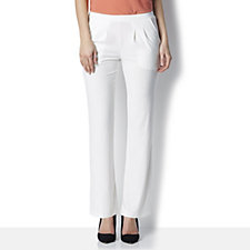 Basic Pull On Regular Trousers with Pintuck Detail by Nina Leonard