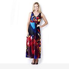 Ronni Nicole 'O So Slim' Wrap Bust Detail Maxi Dress