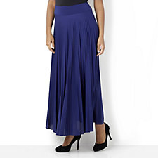 Attitudes by Renee Pleated Placket Detail Maxi Skirt