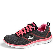 Skechers Sport Flex Appeal Pretty City Lace Up Trainer with Memory Foam