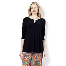 159551 - Attitudes by Renee Tunic with Keyhole Neck Detail
