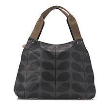 Orla Kiely Solid Stem Classic Zip Shoulder Bag