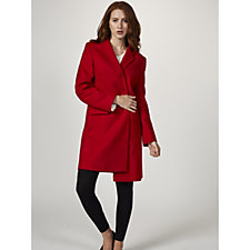 Helene Berman Long Line Notch Collar Coat