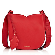 Lulu Guinness Cassandra Leather Crossbody Bag with Adjustable Strap