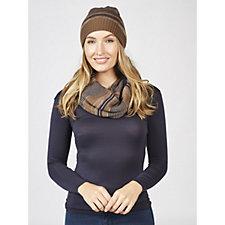 168051 - Muk Luks Reversible Hat & Infinity Scarf Set