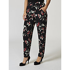 Kim & Co Floral Blossoms Brazil Knit Trousers with Pockets