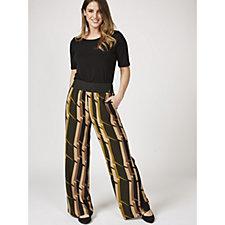 L'Officina della Moda Abstract Print Trousers