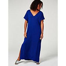 173651 - Join Clothes V Neck Sleeveless Maxi Dress