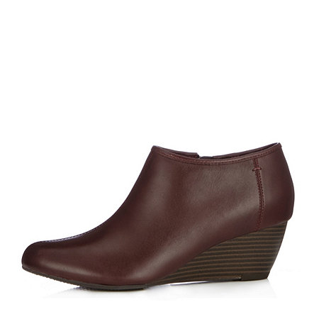 clarks brielle wedge boot wide fit 156052 qvcuk