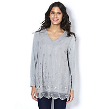 Fashion by Together Tunic with Lace Overlay