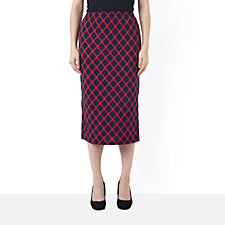 Kim & Co Brazil Knit Byzantine Pencil Skirt with Side Splits