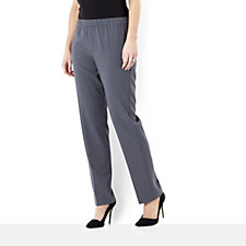 Chelsea Stretch Comfort Pull On Straight Leg Trouser by Susan Graver