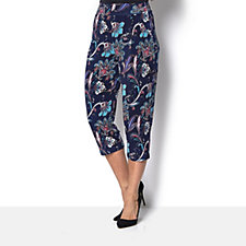 158352 - Kim & Co Peacock Paisley Brazil Knit Cropped City Trouser